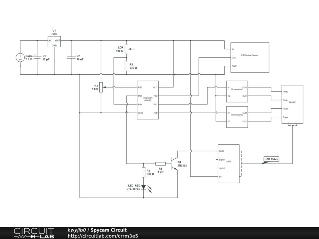 Spycam circuit